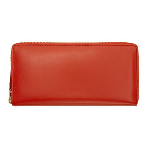 COMME DES GARÇONS WALLETS Orange Classic Continental Zip Wallet