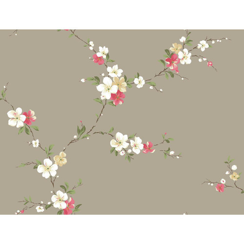 York Wallcoverings Casabella II Blossom Trail 27' x 27'' Floral and Botanical Wallpaper