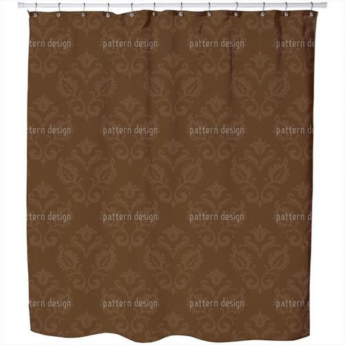 Aramis Braun Shower Curtain [option : Extra Long (70 inches X 90 inches)]