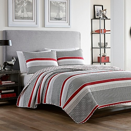 Poppy & Fritz Anchors Away Twin Quilt Set in Grey