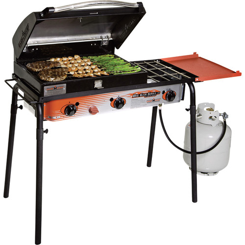 Camp Chef Big Gas Grill  3-Burner Stove with Deluxe Grill Box