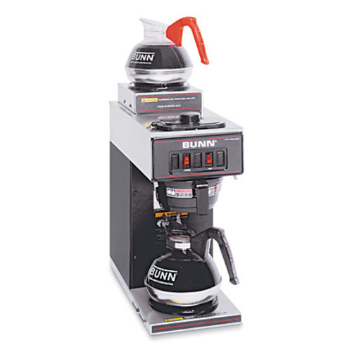 Bunn 12-Cup 2-Station Commercial Pour-O-Matic Coffeemaker, Black/Stainless Steel