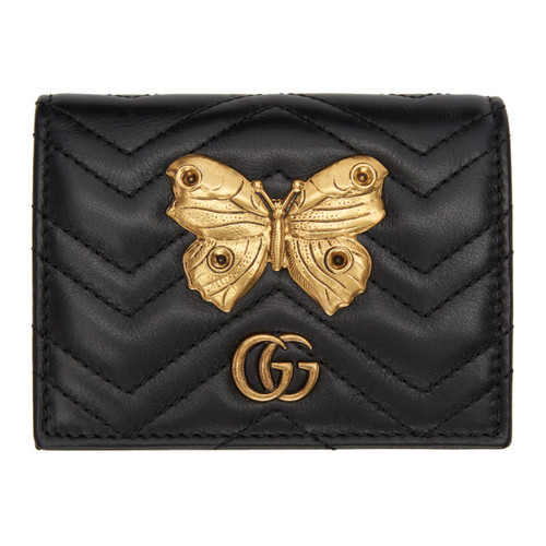 GUCCI Black Gg Marmont 2.0 Compact Wallet