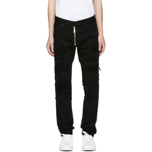 DSQUARED2 Black Ripped Wash Cool Guy Jeans