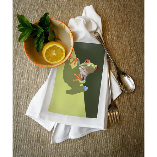 Tree Frog - LP Artwork (100% Cotton Towel Absorbent)