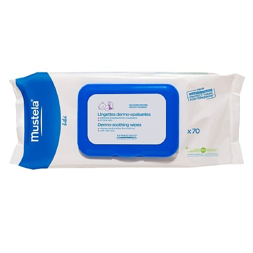 Mustela Dermo-soothing Wipes, Delicately Fragranced