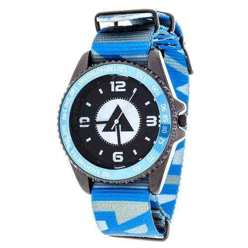 Airwalk Metal Alloy Case w/ Blue Designed Cloth Strap Analog Watch