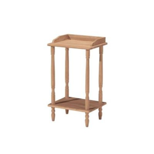 International Concepts Unfinished End Table
