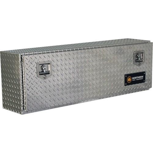 Northern Tool + Equipment Locking Top-Mount Truck Tool Box  Diamond Plate Aluminum, 48in.