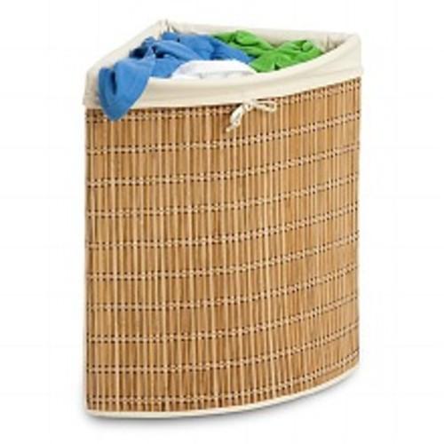 Honey Can Do Bamboo Wicker Corner Hamper