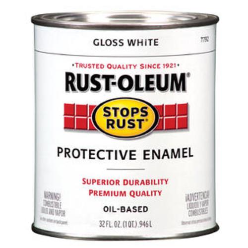 Rust-Oleum Rustoleum Stops Rust Qt Stoprust Gls Wht Interior Enamels 35559772