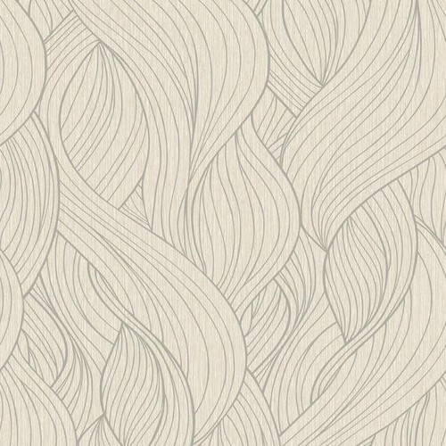 Skein Wallpaper in Dark Metallic and Soft Neutrals by Antonina Vella for York Wallcoverings - 2 [Quantity : 2]