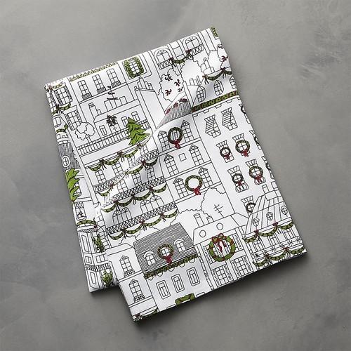 Christmas Town Dish Towel