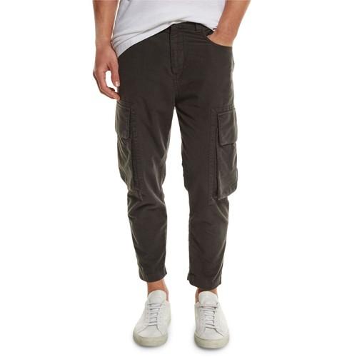 HELMUT LANG Cropped Cargo Jeans, Black