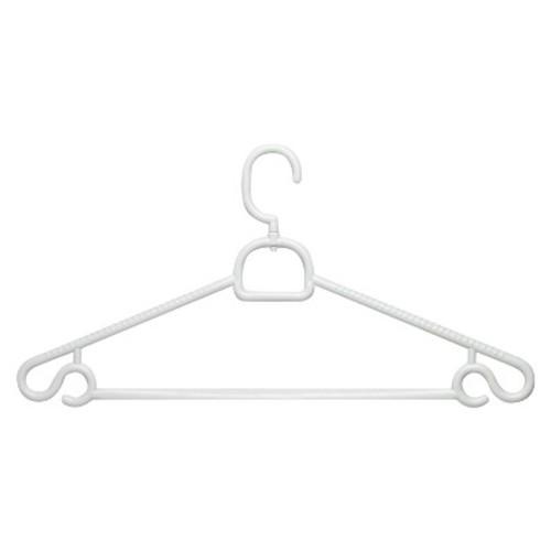 Honey-Can-Do HNGT01362 Plastic Swivel Hanger White, 30-Pack
