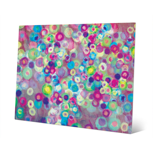 Blooming Bokeh Wall Art on Metal
