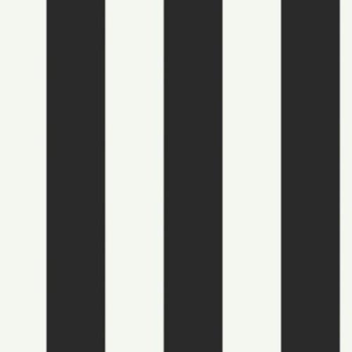 York Wallcoverings Walt Disney Kids II 27' x 27'' Stripes Wallpaper Roll; Black / White
