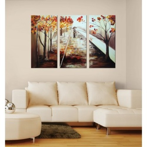 ArtWall Herb Dickinson's Cotton Candy Forest, 3 Piece Gallery Wrapped Canvas Set