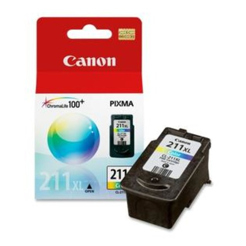 Canon CL-211XL ChromaLife100 Plus High Capacity Tri-Color Ink Cartridge