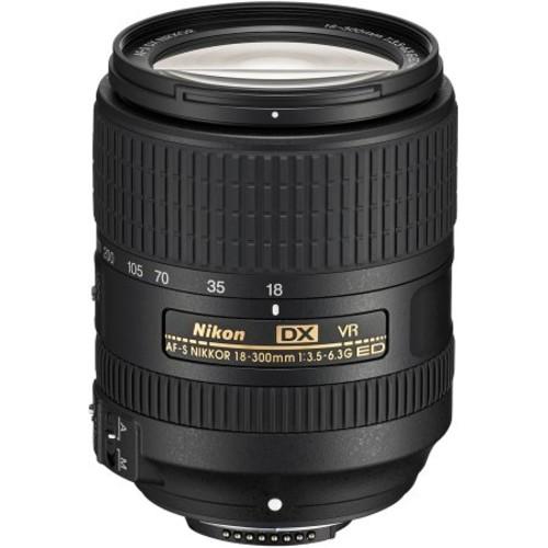 Nikon - AF-S DX NIKKOR 18-300mm f/3.5-6.3G ED VR Telephoto Zoom Lens for Select Nikon DX-Format DSLR Cameras - Black