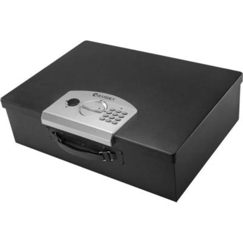 BARSKA 0.63 cu. ft. Steel Safe Digital Portable Keypad Lock Box, Black