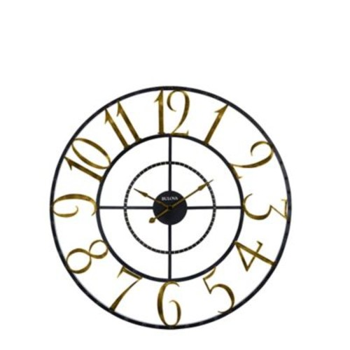 Bulova Colossus Wall Clock in Black