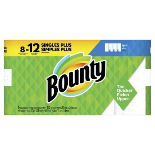 Bounty Select-A-Size Paper Towels - 8 Giant Rolls