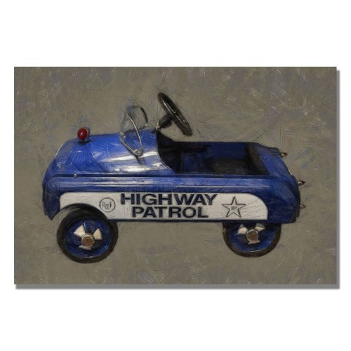 Trademark Global Michelle Calkins 'Highway Patrol Pedal Car' Canvas Art [Overall Dimensions : 35x47]