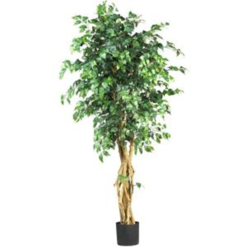 Nearly Natural 6 ft. Multi-Trunk Silk Ficus Tree