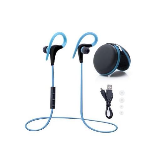Bluetooth Headphones, SAVFY Bluetooth Earbuds Runner Headset Sport Earphones with Mic - Lightweight HD Stereo, Perfect Stability & Comfort - HandsFree for Smartphones, Sky Blue
