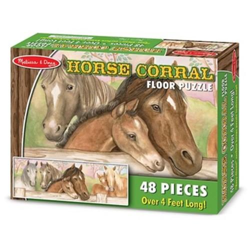 Melissa & Doug Horse Corral Jumbo Jigsaw Floor Puzzle (48pc, over 4 feet long)
