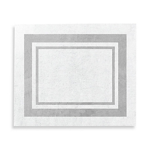 Sweet Jojo Designs Hotel 36-Inch x 30-Inch Rug in White/Grey