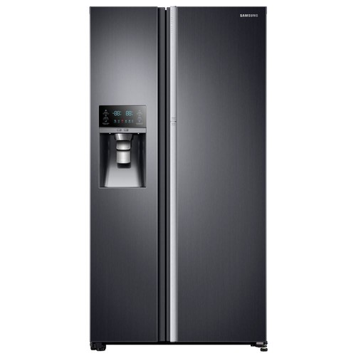 Samsung 21.5 cu. ft. Side by Side Refrigerator in Black Stainless Steel, Counter Depth Food Showcase Design