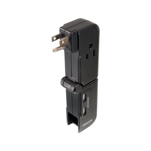 Philips SPS1028A/17 3-Outlet 2 USB Power Multiplier