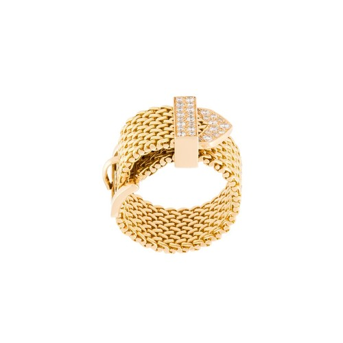 'Polonaise' couture diamond ring