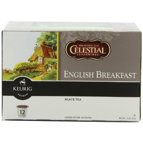 Celestial Seasonings English Breakfast Tea, K-Cup Portion Pack for Keurig K-Cup Brewers, 12-Count (Pack of 3)