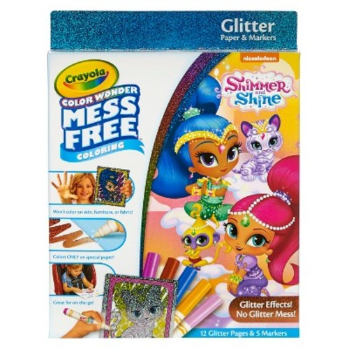 Disney Princess Mess Free Color Wonder Glitter Paper and Markers