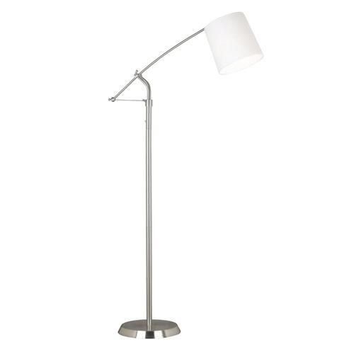 Kenroy Home 20812BS Reeler Adjustable Floor Lamp, Brushed Steel [Brushed Steel]