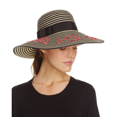 KATE SPADE NEW YORK La Vie En Rose Stripe Sun Hat