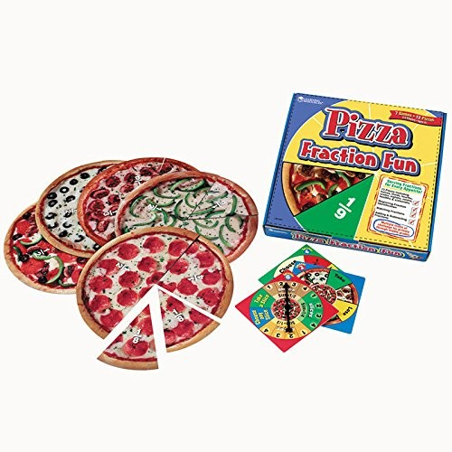 Learning Resources Pizza Fraction Fun Math Game, for Grades 1 and Up