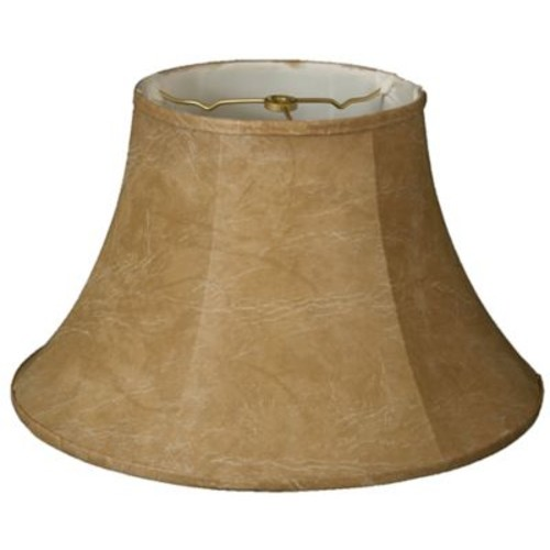 RoyalDesigns Timeless 11.5'' Faux Leather Bell Lamp Shade