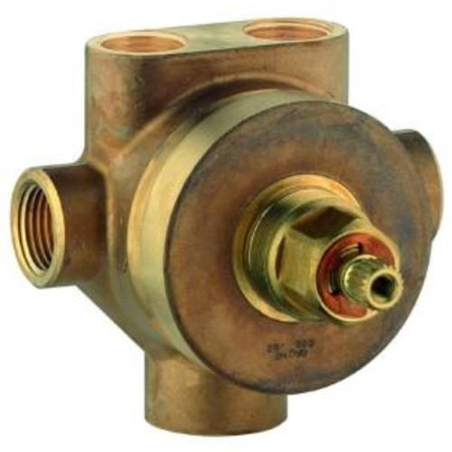 1/2 in. Brass FIP 5-Port Diverter Rough-In Valve