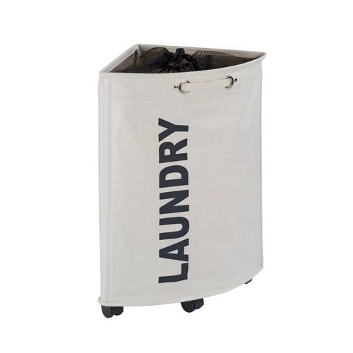 Wenko Tresco Laundry Bin in Beige