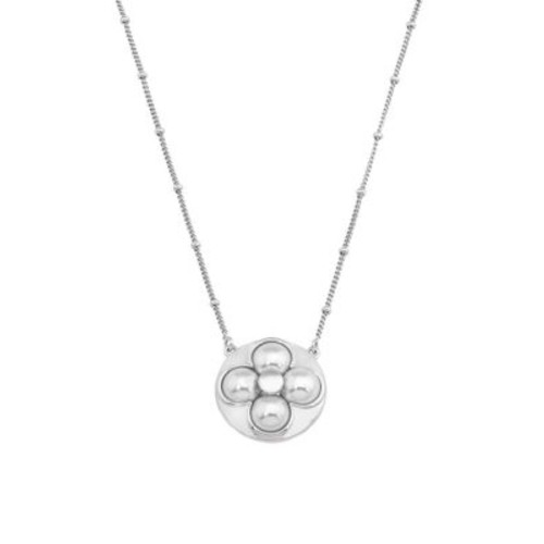 Luck 8MM White Mabe Pearl & Sterling Silver Pendant Necklace