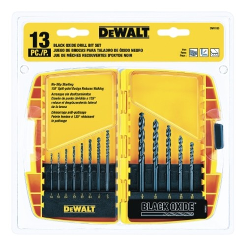 Dewalt 13 piece Black Oxide Drill Bit Set (DW1163)