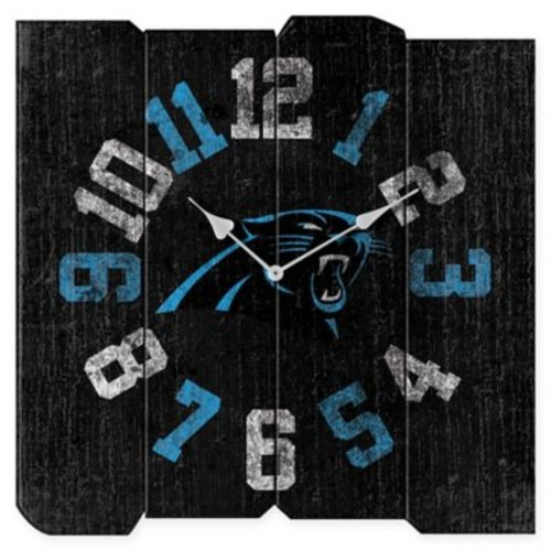 NFL Carolina Panthers Vintage Square Wall Clock