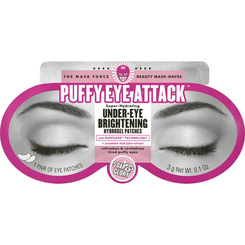 Puffy Eye Attack Super-Hydrating Under-Eye Brightening Hydrogel Patches