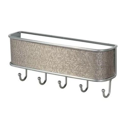 InterDesign Twillo Wall Mount Mail and Key Rack in Metallico
