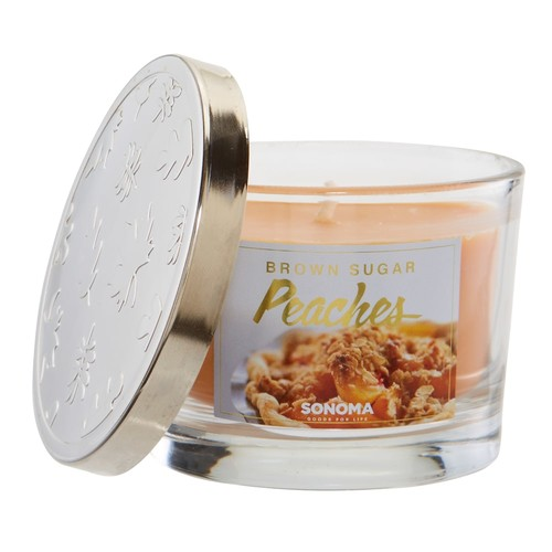 SONOMA Goods for Life 5-oz. Brown Sugar Peaches Candle Jar