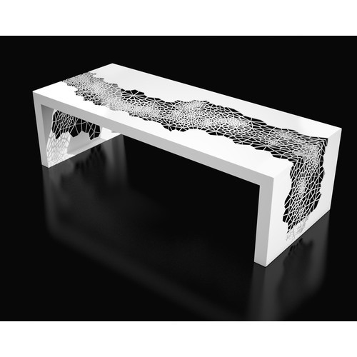 Hive Coffee Table [Finish : Brilliant White]